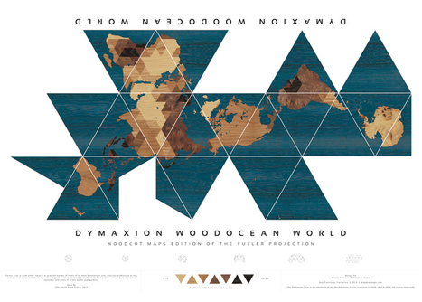 Buckminster Fuller's Dymaxion world map redesigned | visual data | Scoop.it
