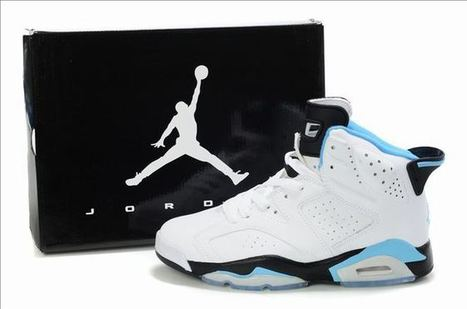 nike jordans shoes 6 retro white black blue | my style | Scoop.it