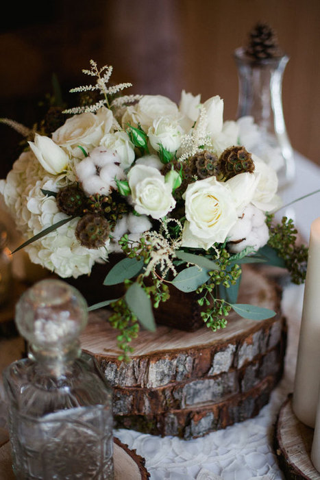 Winter White Rustic Chic Flowers That Are Season Approved ... | Rustic Chic Wedding | Scoop.it
