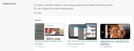 Displaying Related Posts with the New Jetpack Related Posts Module - WPSpeak.com | WordPress Tip and Tutorials | Scoop.it