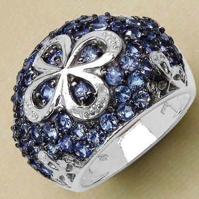2.26CTW Genuine Tanzanite .925 Sterling Silver Ring   Online Jewellery Shopping in India   Scoop.it