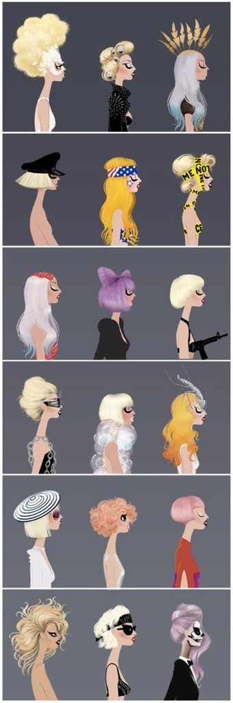 ARTmonday: 20 Illustrated Arrays, From Modern Chairs to Lady Gaga     style carrot     Sharing Inspiration K7Media   Scoop.it