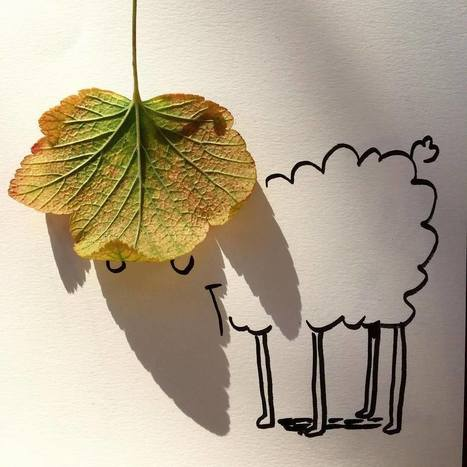 Artist Vincent Bal Turns the Shadows of Everyday Objects into Ingenious Illustrations   Amazing art!   Scoop.it