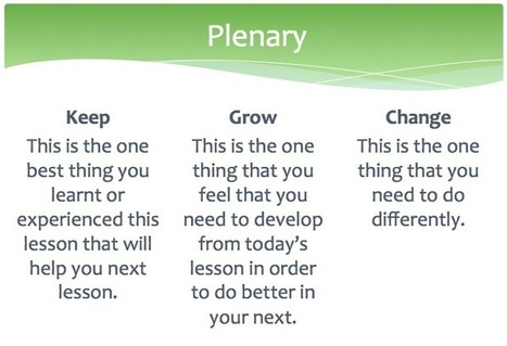 Exit tickets and 'keep, grow, change' templates - Mark Anderson's Blog | Web 2.0 Tools for Schools | Scoop.it