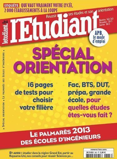 L'Etudiant 362-363 – Decembre 2012-Janvier 2013 | informatique | Scoop.it