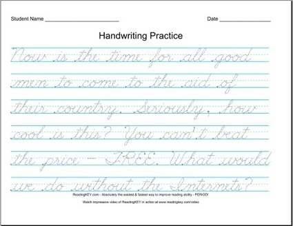 Free Handwriting / Printing Practice Worksheets! - Welcome to NCS-Tech! | Connected Learning | Scoop.it
