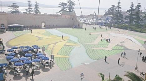 Essaouira : Biennale de Marrakech - Giacomo Bufarini réalise la plus grande fresque d'Afrique du Nord | Créativité urbaine | Scoop.it