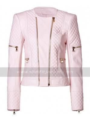Ladies Pink Leather Biker Jacket | Womens Motorcycle Quilted Jacket | Women's Jackets | Scoop.it