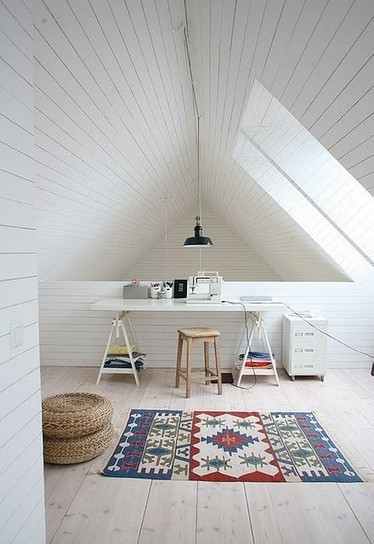 37 Cool Attic Home Office Design Inspirations | Design | The Office | Scoop.it
