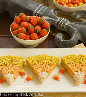 Rice Krispie Candy Corn   Halloween Treats #HolidayFoodParty   Scoop.it