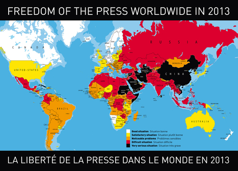Press Freedom Index 2013 - Reporters Without Borders | Southern Hemisphere | Scoop.it