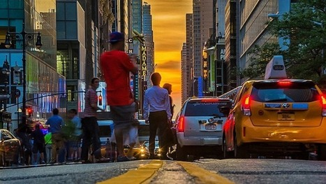 Cloudy skies give Manhattanhenge photos a Monet-like feel | Amazing photography | Scoop.it