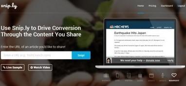 Convertir la curation en traffic pour votre site avec Sniply | Curation : quoi de neuf autour du marketing digital ? | Scoop.it