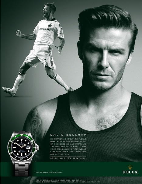 David Beckham Ad for Rolex Watches   Persuasion Project   Scoop.it