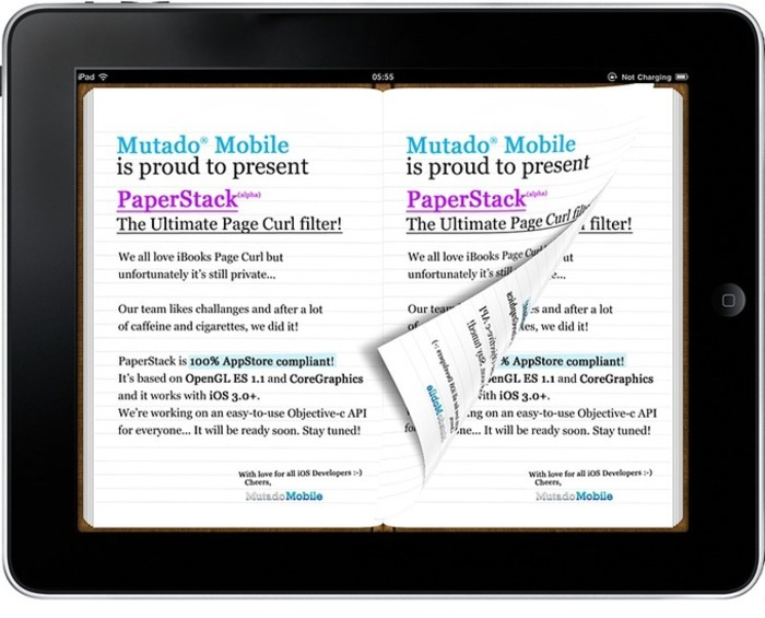 PaperStack: an iOS Page Curl filter for iOS (App Store safe!) | iPhone and iPad development | Scoop.it