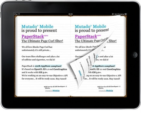 PaperStack: an iOS Page Curl filter for iOS (App Store safe!) | android source code | Scoop.it