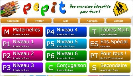 PEPIT des exercices éducatifs de la maternelle au secondaire | French learning - le Français dans tous ses états | Scoop.it
