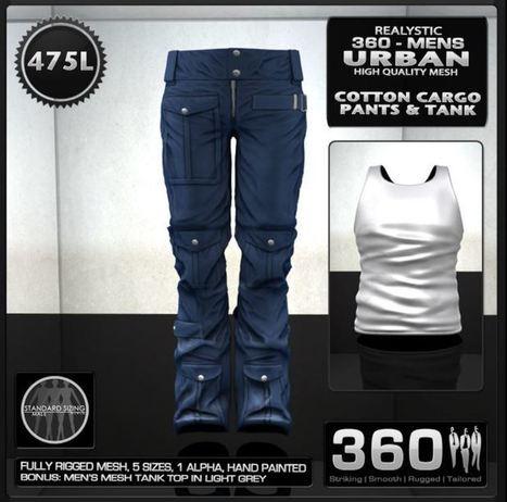 Second Life Freebies For Men Urban Cargo Pants And Shirt - NessMarket | 亗 Second Life Freebies Addiction & More 亗 | Scoop.it
