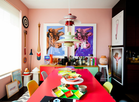My Houzz: Color Breaks All the Rules in This NYC Apartment | Designing Interiors | Scoop.it