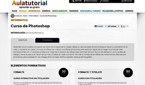 Curso de Photoshop online y gratuito de 30 horas de duración | E-Learning, M-Learning | Scoop.it