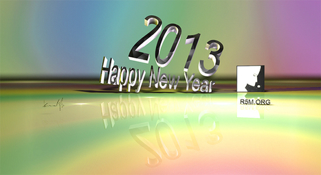 Happy NEW YEAR - 2013 may start off with a 3D composition   SLICE LOGIC   GRAPHIC DESIGN BLOG   Design and Aesthetics   Scoop.it