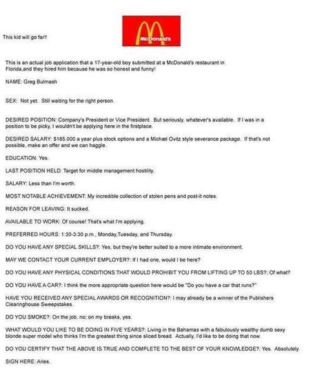 McDonalds sollicitant | mensen | Scoop.it