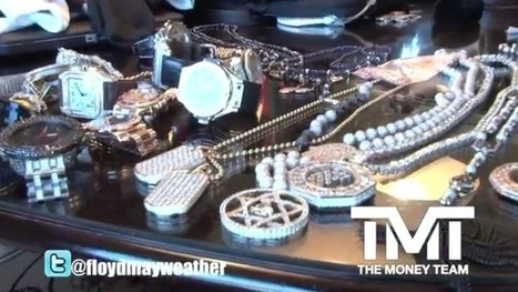 Floyd Mayweather Shows You His Jewelry & Like A Million Dollars In CASH! | Watches, timepieces, and other jewelry | Scoop.it