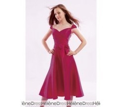 Sexy Ruched Bowknot A-Line Sweetheart Neckline Tea-Length Bridesmaid Dresses - Bridesmaid Dresses | fashion girl | Scoop.it