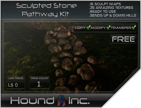 Stone Pathway Kit Full Permissions by Hound INC | Teleport Hub - Second Life Freebies | Second Life Freebies | Scoop.it
