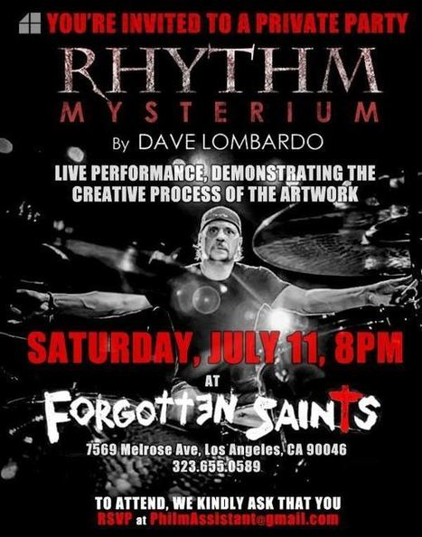 Video: Ex-SLAYER Drummer DAVE LOMBARDO Demonstrates Creation Of His Art Collection | Deranged News | Scoop.it