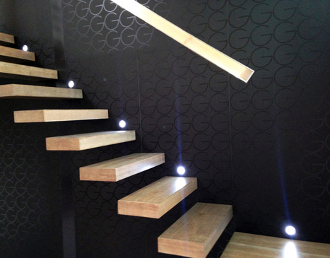 Escalier suspendu, moderisme et art contemporain | Escalier Design Mobilier Contemporain de style Art Nouveau | Scoop.it
