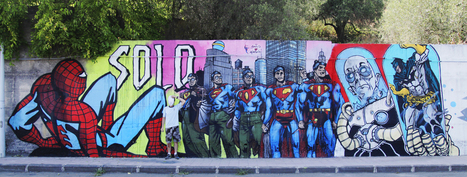 Flavio Solo - Superhero Street Art from Italy - Street I Am | Bellaboy | Scoop.it