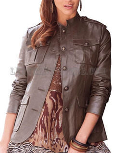 Classic Women Leather Military Jacket with sleeves | Leather Apparels World-Wide | Scoop.it