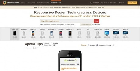 Comment tester un site responsive? (partie 1) - Alsacreations | Web Design | Scoop.it