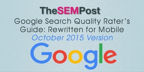 Latest Google Search Quality Rater's Guide: Mobile Rewrite | Digital Brand Marketing | Scoop.it
