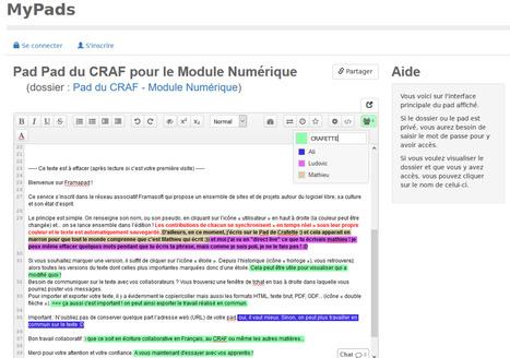 Ecriture collaborative avec Framapad | Veille générale et Pédagogique | Scoop.it