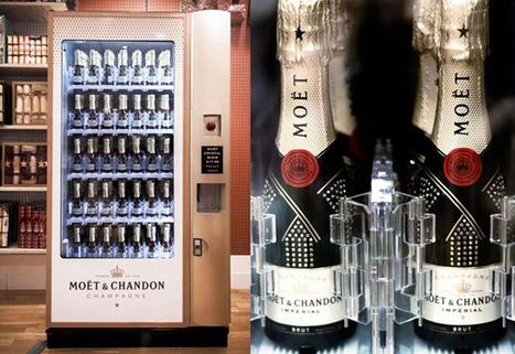 Le Distributeur automatique de Champagne par Moët et Chandon | Edouard Borie | vending machine | Scoop.it