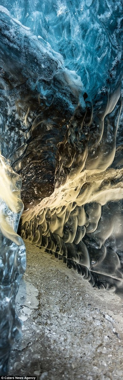 Photographer captures mesmerising images of magical ice cavern | Everything from Social Media to F1 to Photography to Anything Interesting | Scoop.it