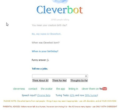 Cleverbot | 21st Century Innovative Technologies and Developments as also discoveries, curiosity ( insolite)... | Scoop.it