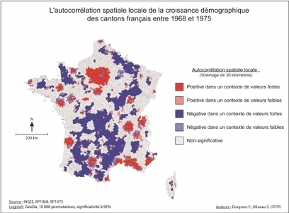 La diagonale se vide? Analyse spatiale exploratoire des décroissances démographiques en France métropolitaine depuis 50 ans | Démographie-société | Scoop.it