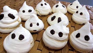 Une recette spéciale Halloween les esprits fantômes - Supertoinette, la cuisine facile !