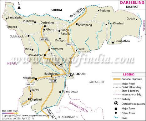 Darjeeling Tourist Map   An Open Eye to the Outdoor   Scoop.it