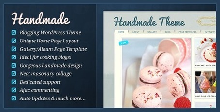 Handmade - Personal WordPress Blogging Theme (Personal) | Premium Wordpress Themes | Scoop.it