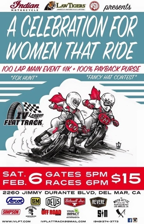 Ladies Night at Del Mar Coming Up! | California Flat Track Association (CFTA) | Scoop.it