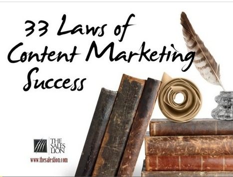 Les 33 lois du marketing de contenu - Balises Infos   le 2.0 à mon service   Scoop.it