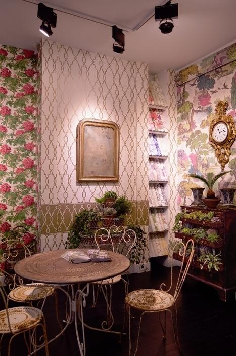 Au Fil des Couleurs - Paris Déco Off : showroom Cole & Son   Papier peint   Scoop.it