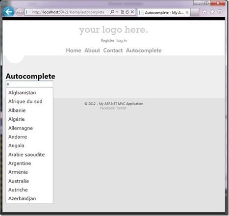Asp.Net MVC4 (beta) Web Api et Autocompletion via JQuery | AspNet MVC | Scoop.it
