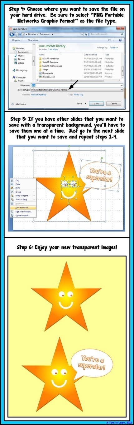 A Turn to Learn: How to Save a PowerPoint Slide as a Transparent Image! | New learning | Scoop.it