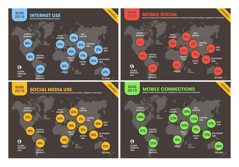 Culture RP » Cartographie: le digital, les réseaux sociaux et le mobile dans le monde | Digital News in France | Scoop.it