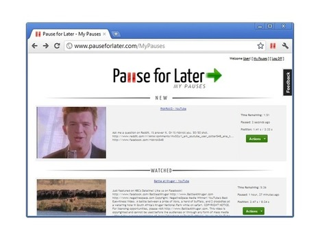 Pause For Later (Beta) - Home | technologies | Scoop.it